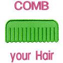 Comb Your Hair Applique Design