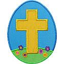 Cross Easter Egg Applique Design