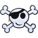 Crossbones Applique Design