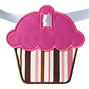 Cupcake Banner Piece Applique Design