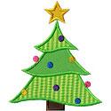 Curvy Christmas Tree Applique Design