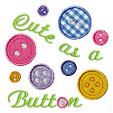 Cute As A Button Applique Design