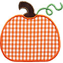 Cute Simple Pumpkin Applique Design