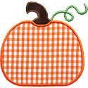 Cute Simple Pumpkin Applique Design