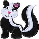 Cute Skunk Applique Design