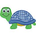 Cute Turtle Applique Design