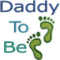 Daddy To Be Applique Design