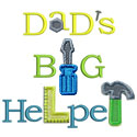 Dads Big Helper Applique Design