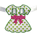 Dress Bow Banner Piece Applique Design