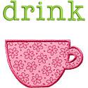 Drink Applique Design