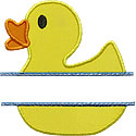 Duck Name Plate Applique Design