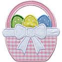 Easter Basket Bow Applique Design
