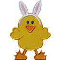 Easter Chicken Applique Design