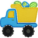 Easter Dump Truck Applique Design