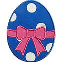 Easter Egg Bow Applique Design