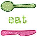 Eat Applique Design