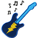 Electric Guitar Applique Design