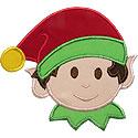 Elf Boy Applique Design