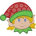 Elf Girl Applique Design