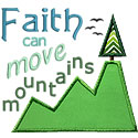 Faith Move Mountains Applique Design
