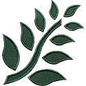 Fern Leaves Applique Design
