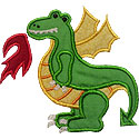 Fire Dragon Applique Design