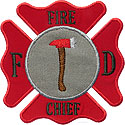 Fireman Badge Applique Design