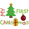 First Christmas Applique Design