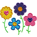 Flower Garden Applique Design