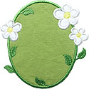 Flowers Border Applique Design
