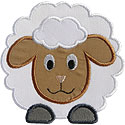 Fluffy Sheep Applique Design