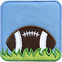Football Frame Applique Design
