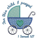 For This Child I Prayed Applique Design