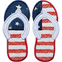 Fourth July Flip Flops Applique Design