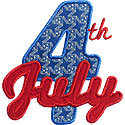 Fourth Of July Applique Design