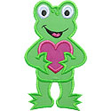 Frog Valentine Applique Design