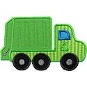 Garbage Trash Truck Applique Design