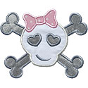 Girl Crossbones Applique Design
