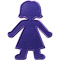 Girl Silhouette Applique Design