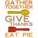 Give Thanks Eat Pie Applique Design