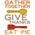 Give Thanks Eat Pie Applique Design