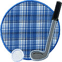 Golf Club Ball Applique Design