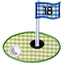 Golf Course Hole Applique Design
