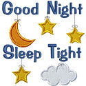 Good Night Sleep Tight Applique Design