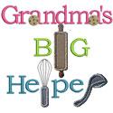 Grandmas Big Helper Applique Design