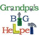 Grandpas Big Helper Applique Design