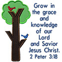 Grow In Lord Tree Applique Design