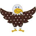 Happy Bald Eagle Applique Design