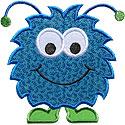 Happy Monster Applique Design