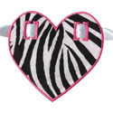 Heart Banner Piece Applique Design